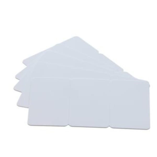 Plastkort PVC, Vitt brytbart kort, tre-i-ett, 0,76 mm, 100 st
