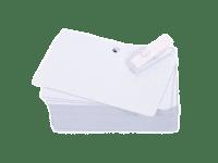 Produktbild på Plastkort med 5 mm hål, 0,50 mm, 100 st