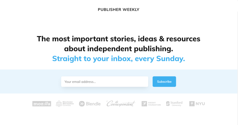 Curated news for independent publishing