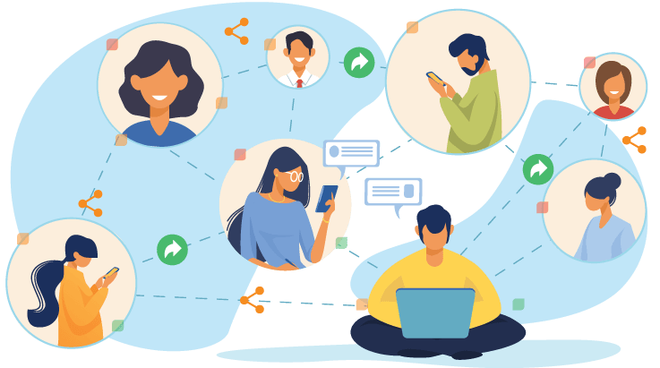 People connecting with networks t_scout