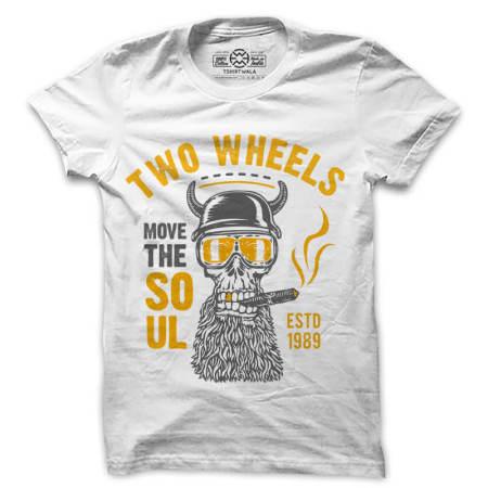 Two Wheels Biker White Tshirt