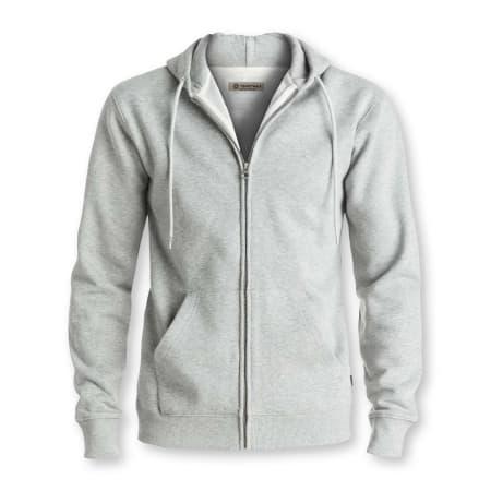 Tshirtwala Grey Melange Zip Hoodie Jacket