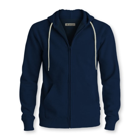 Tshirtwala Navy Blue Zip Hoodie Jacket