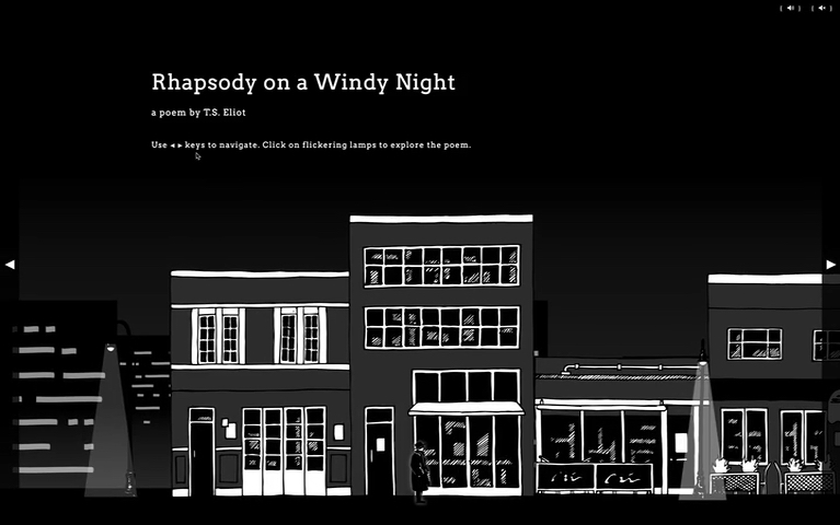 Screenshot of the street view of 'Rhapsody on a Windy Night, a poem by T.S. Eliot'