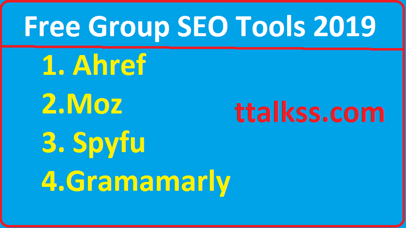 Free Group Buy SEO Tools 2019(All Premium SEO Tools)