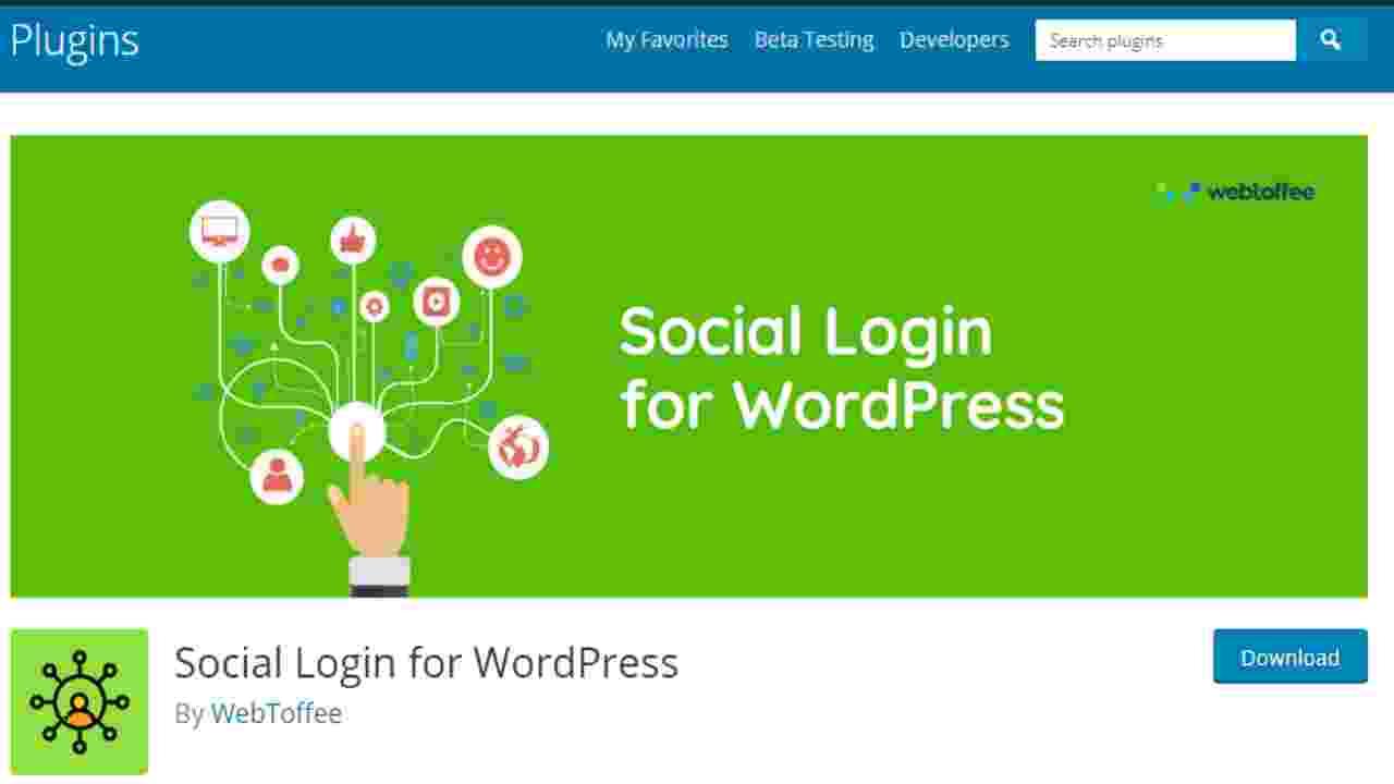 wt social login for wordPress