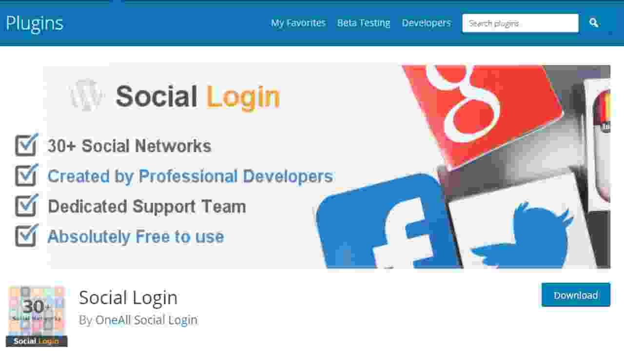 Oa Social Login