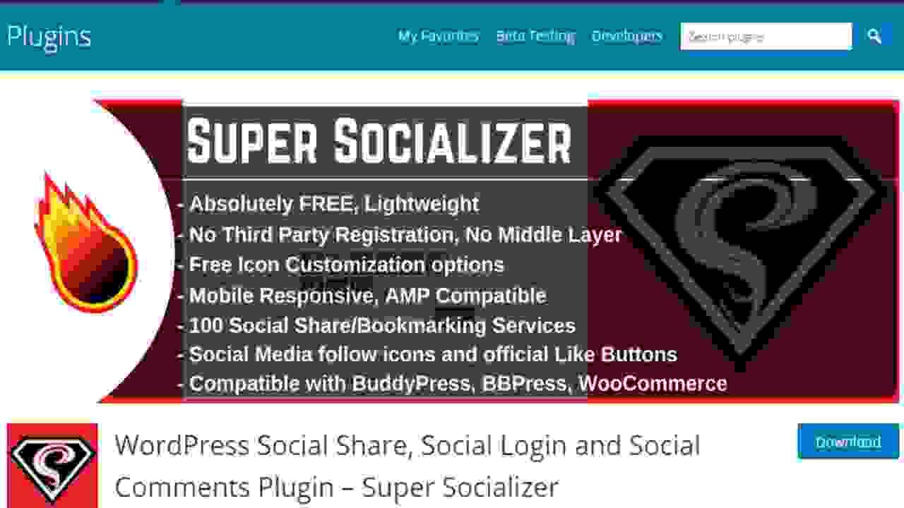 Supper Socializar WordPress Sign In Plugin