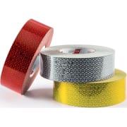Refleksbånd selvklebende rød 50mm (50m)(pr.stk)