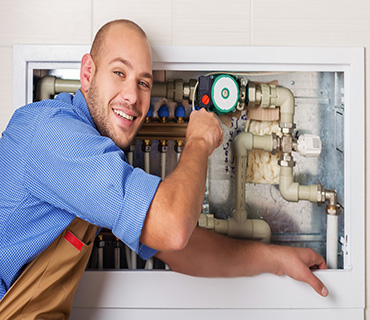 Defective central heating controls can be removed and replaced in a short space of time.