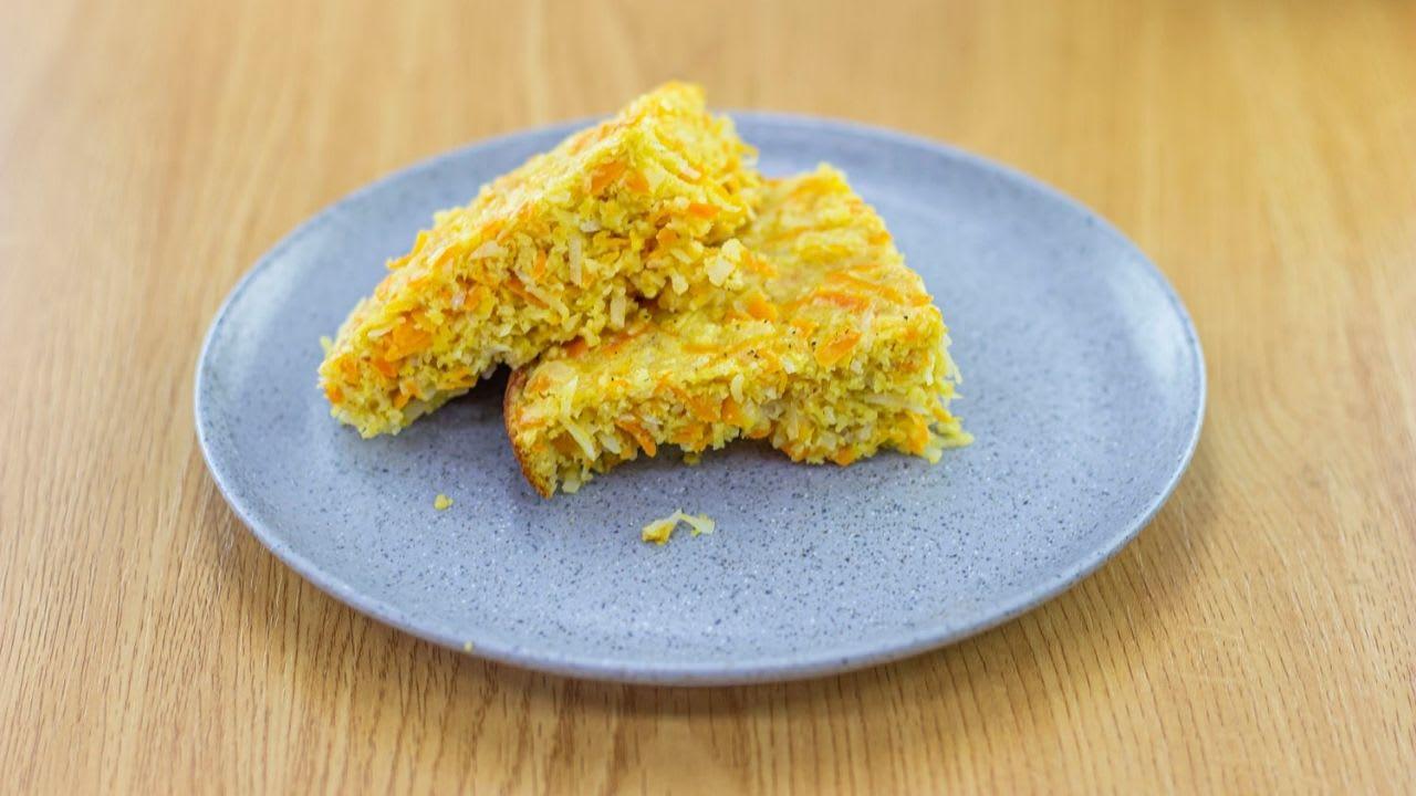 Torta de zanahoria en sartén