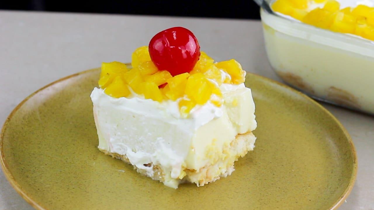 Cheesecake de piña receta