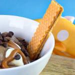 helado casero de banano y chocolate