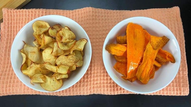 Chips de Manzana y zanahoria