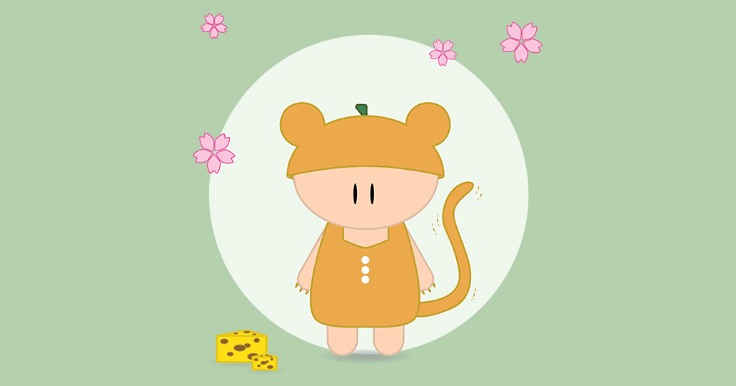 Nezumi Character design sakura cherry blossoms