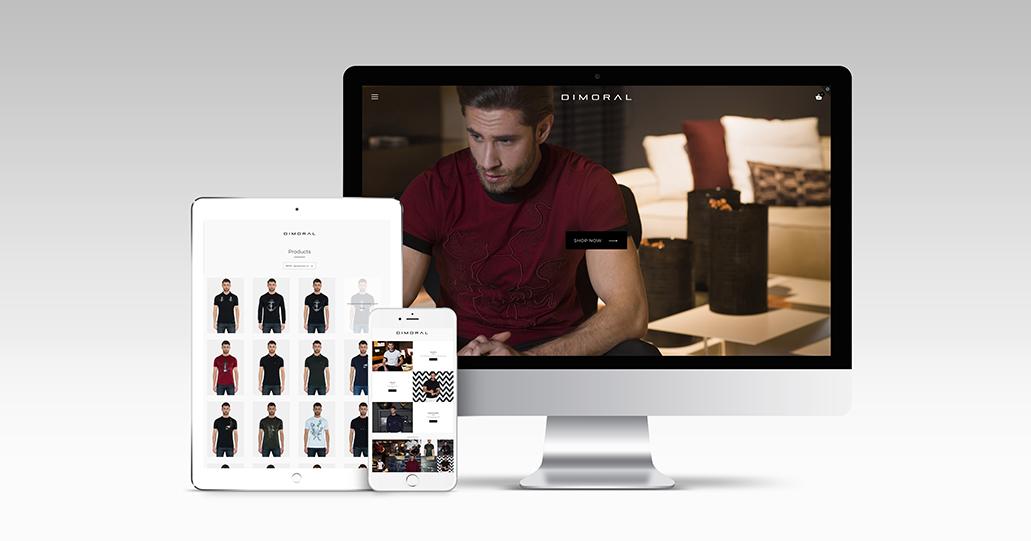 Dimoral webshop responsive redesign