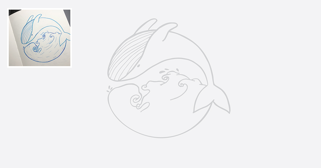 Whale logo design Sketch Vector | Tucreate