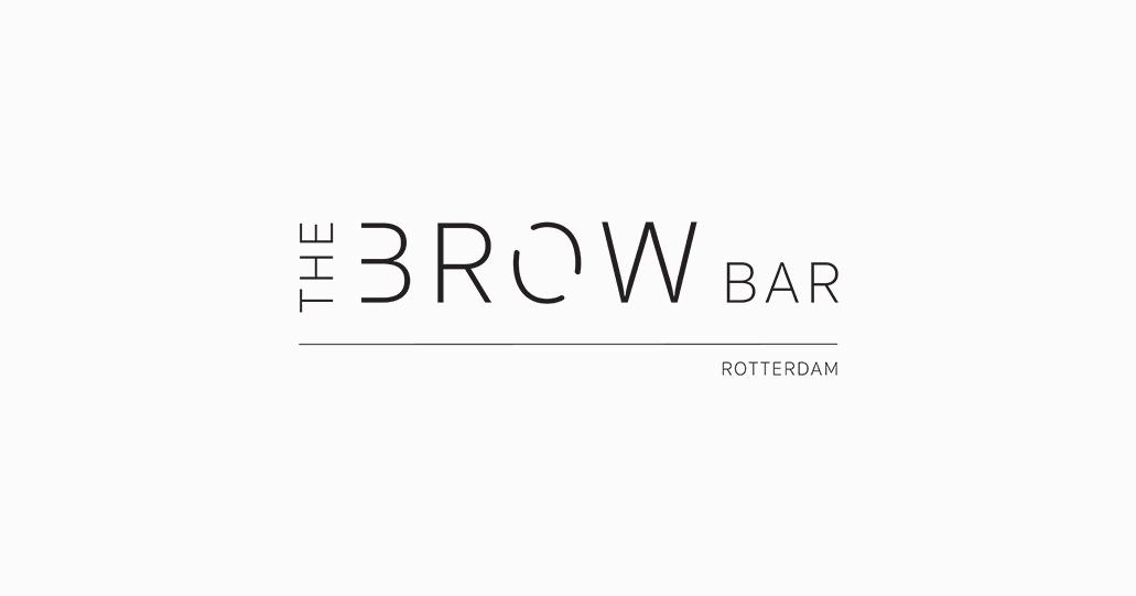 The Brow Bar Rotterdam Logo White Cream Background