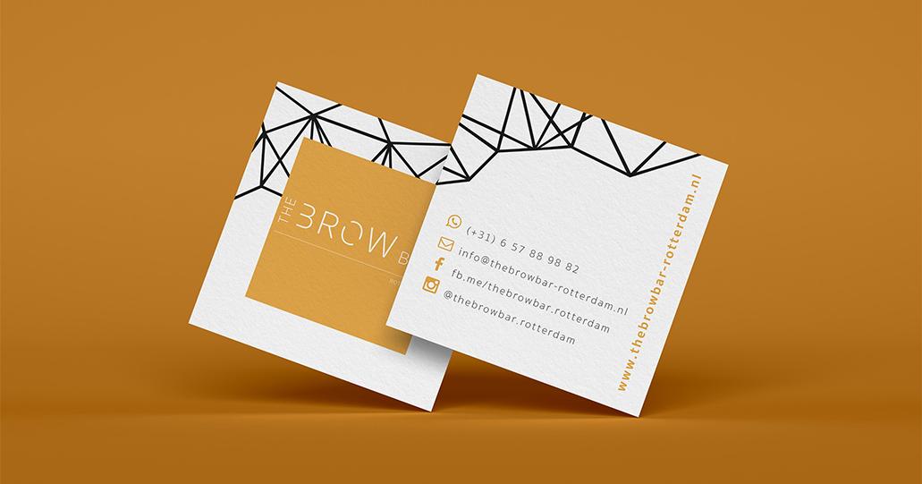 Business card The Brow Bar Rotterdam
