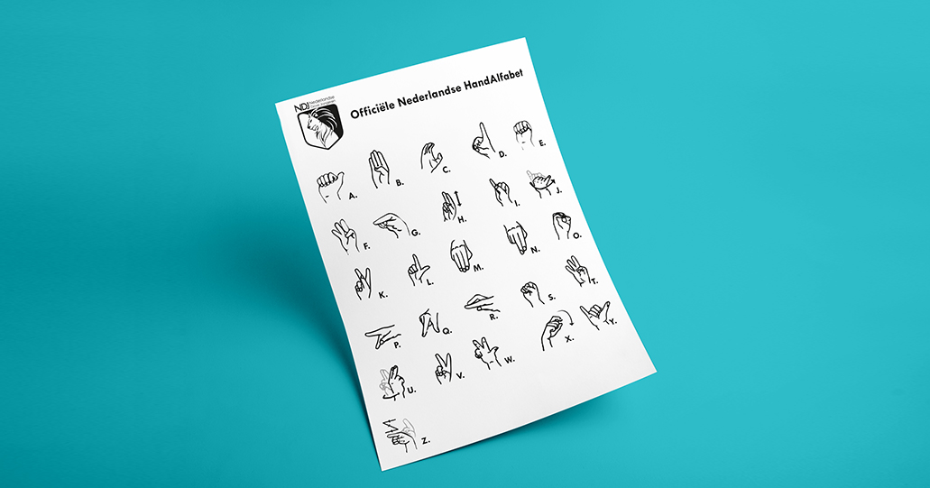 Dutch Sign Language Card Nederlandse Dove Jongeren NDJ