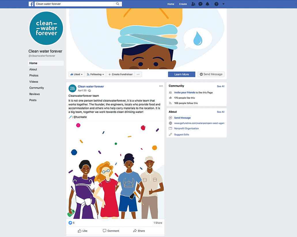Facebook Clean Water Forever illustration design | Tucreate