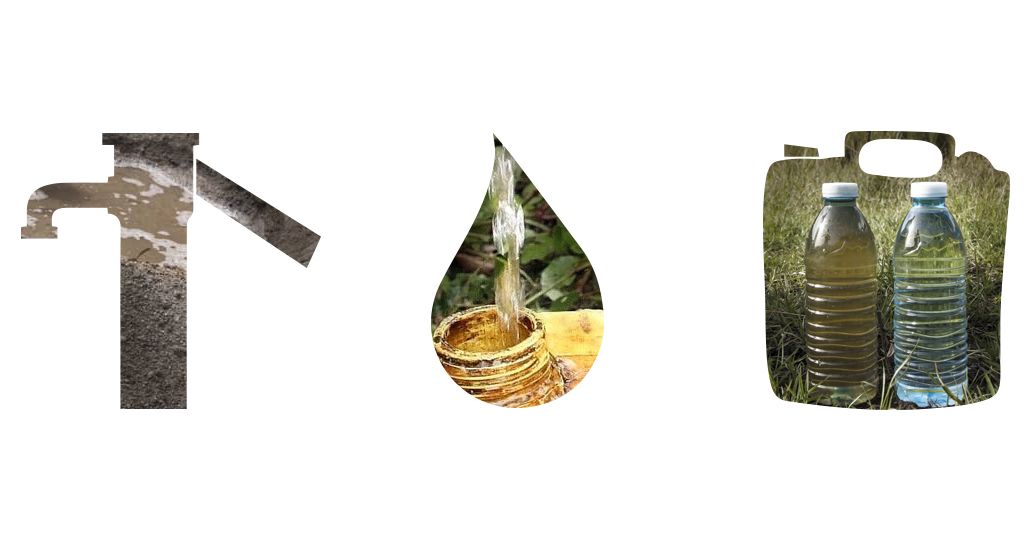 Clean and Dusty water comparison Uganda Clean Water Forever illustration design | Tucreate