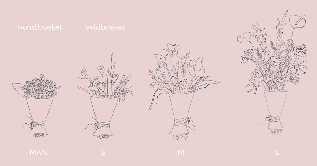 Flower illustration different sizes