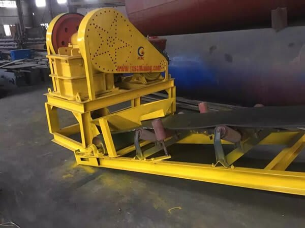 jaw crusher in rock gold plant