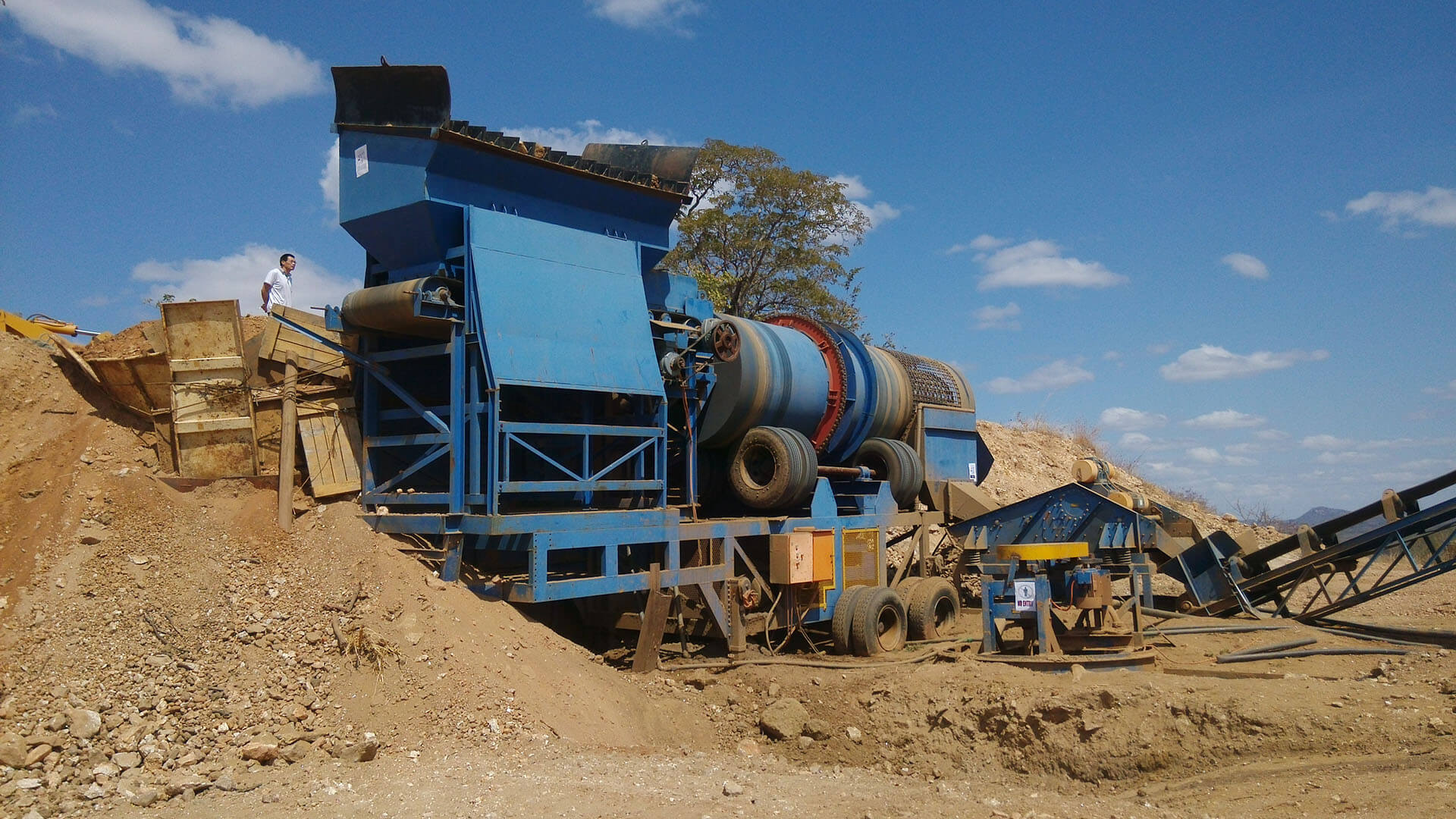 coltan mining plant