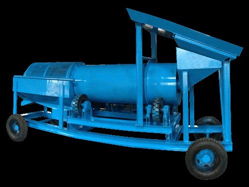Mobile trommel washer