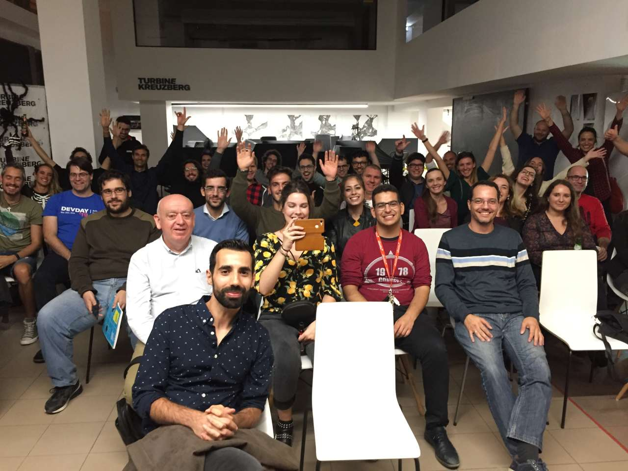coding stuttgart crowd in october 2019 waving at you