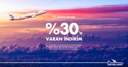 <p>Aegean Airlines Uçuşlarında Turna.com'a Özel%30'a Varan İndirim Fırsatı</p>