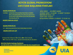 <p>Büyük Global Promosyon Kampanyasını Kaçırma!</p>