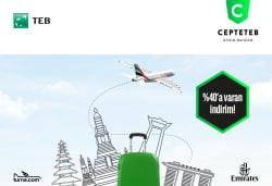 <p>Emirates Uçuşlarında TEB Müşterilerine Özel Turna.com'da %40'a Varan İndirim!</p>