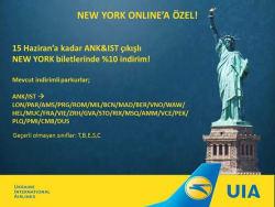 <p><strong>NEW YORK Biletlerinde %10 İndirim Fırsatını Kaçırma!</strong></p>