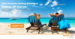 Atlasglobal yurtiçi uçuşlarında 19-20 Mart'ta Turna.com'a Özel %50'ye varan indirim