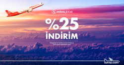 <p>Turna.com'a Özel Atlasglobal Uçuşlarında %25'e Varan İndirim</p>