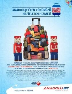 <p><strong>AnadoluJet'ten Yükünüzü Hafifleten Hizmet!</strong></p>