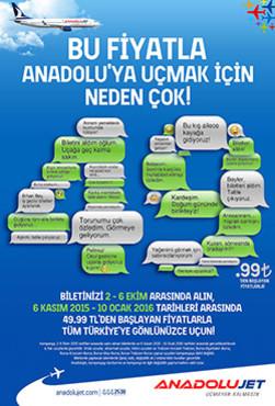 <p><strong>Fırsatlar</strong></p>  <p><strong>Bu Fiyatla Anadolu'ya Uçmak İçin Neden Çok!</strong></p>