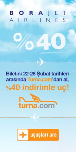 <p><strong>Turna.com'a Özel Borajet Uçuşlarında %40 İndirim Fırsatı</strong></p>