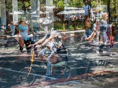 pasajero clandestino en la Plaza de España