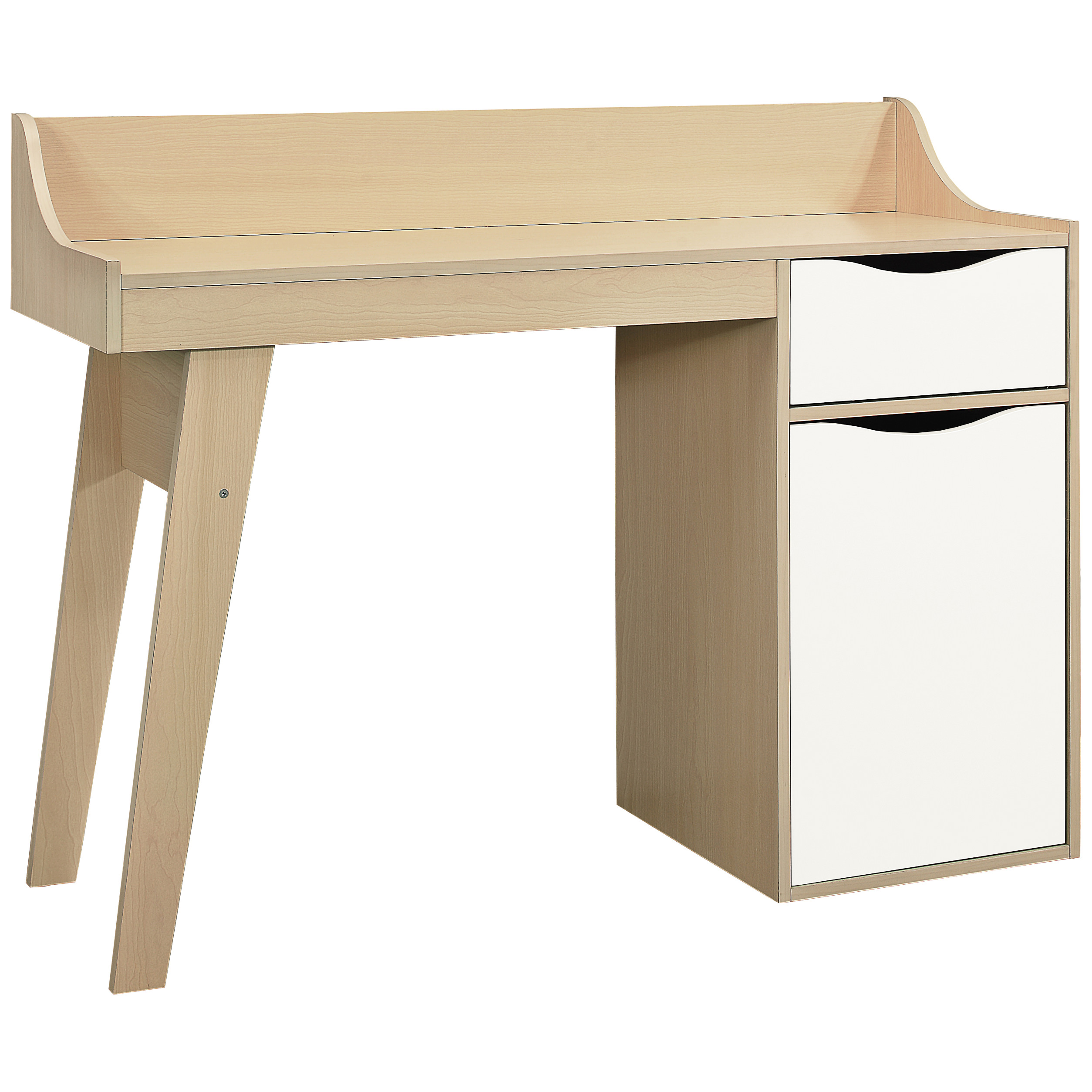 Beech Study Computer Laptop PC Desk Table Home Office Workstation ...