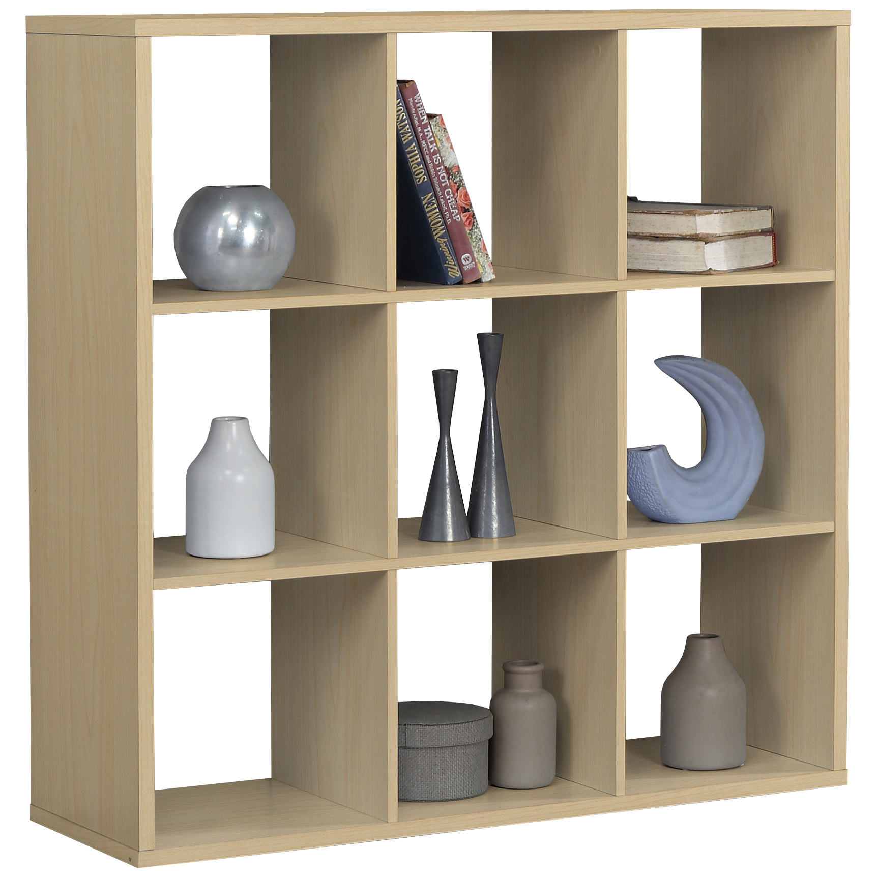 This storage shelf or box cube room divider has a beech finish and would fit well in any modern or contemporary decorated living