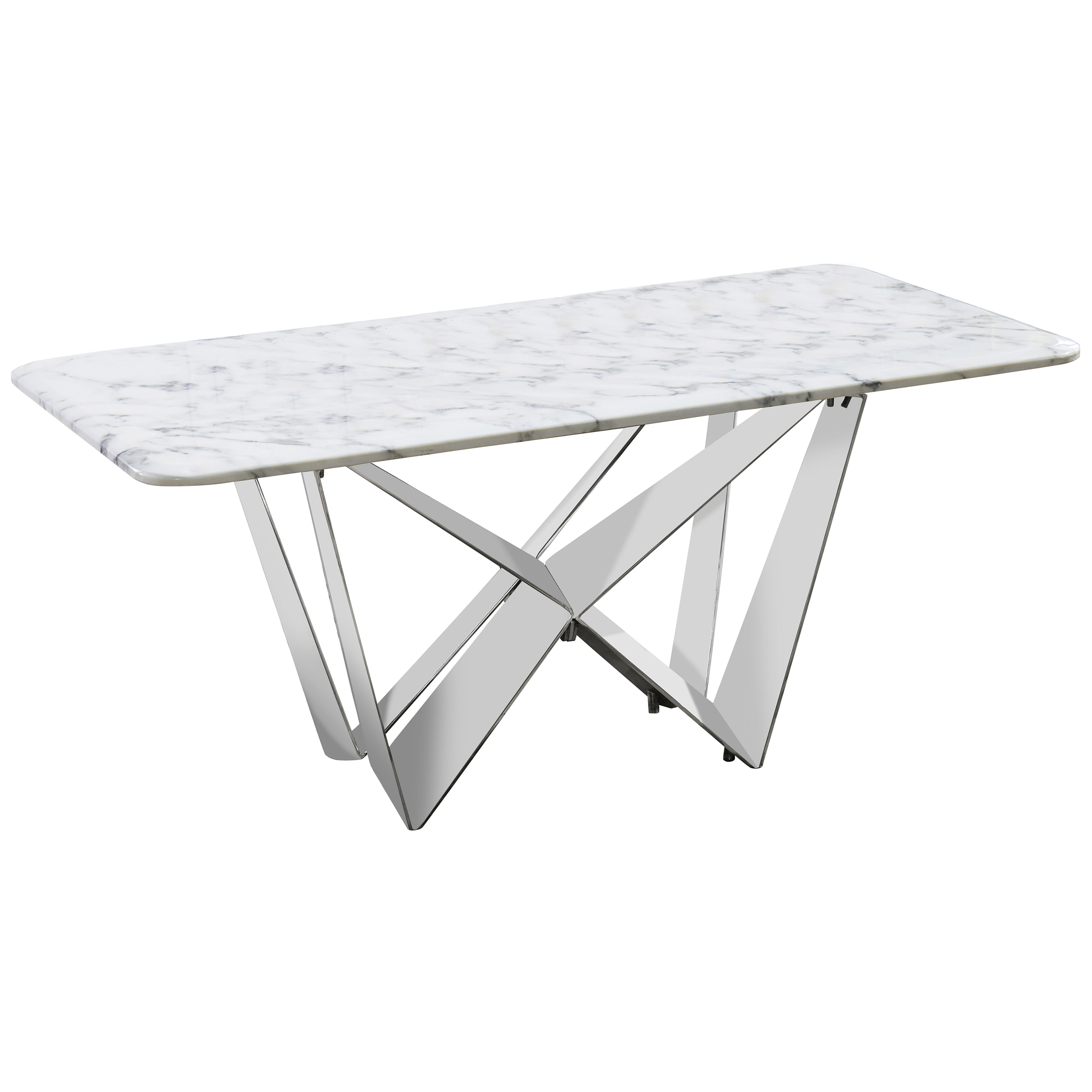 Details About Grey Stone Marble Effect Steel Rectangle Coffee Table