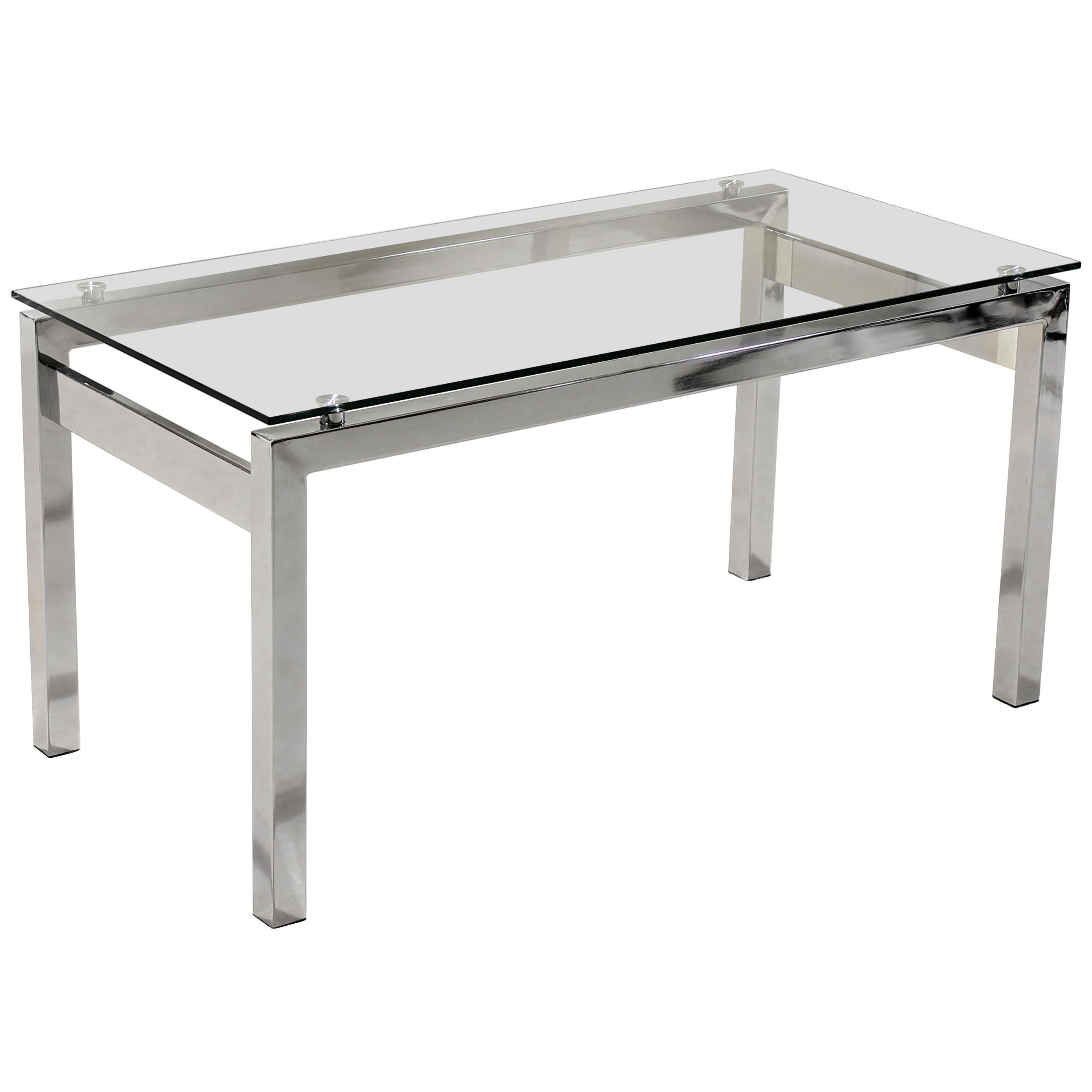 Description Chrome Coffee Table And End Lamp With Tempered Clear Glass Tops This Set Has Legs Will Suit Any Modern Or Contemporary