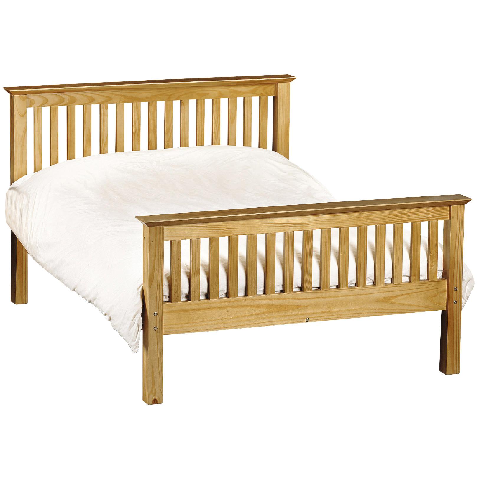 Solid Pine Bed Frame Bedstead | Single Double Kingsize 3ft 4ft6 5ft ...