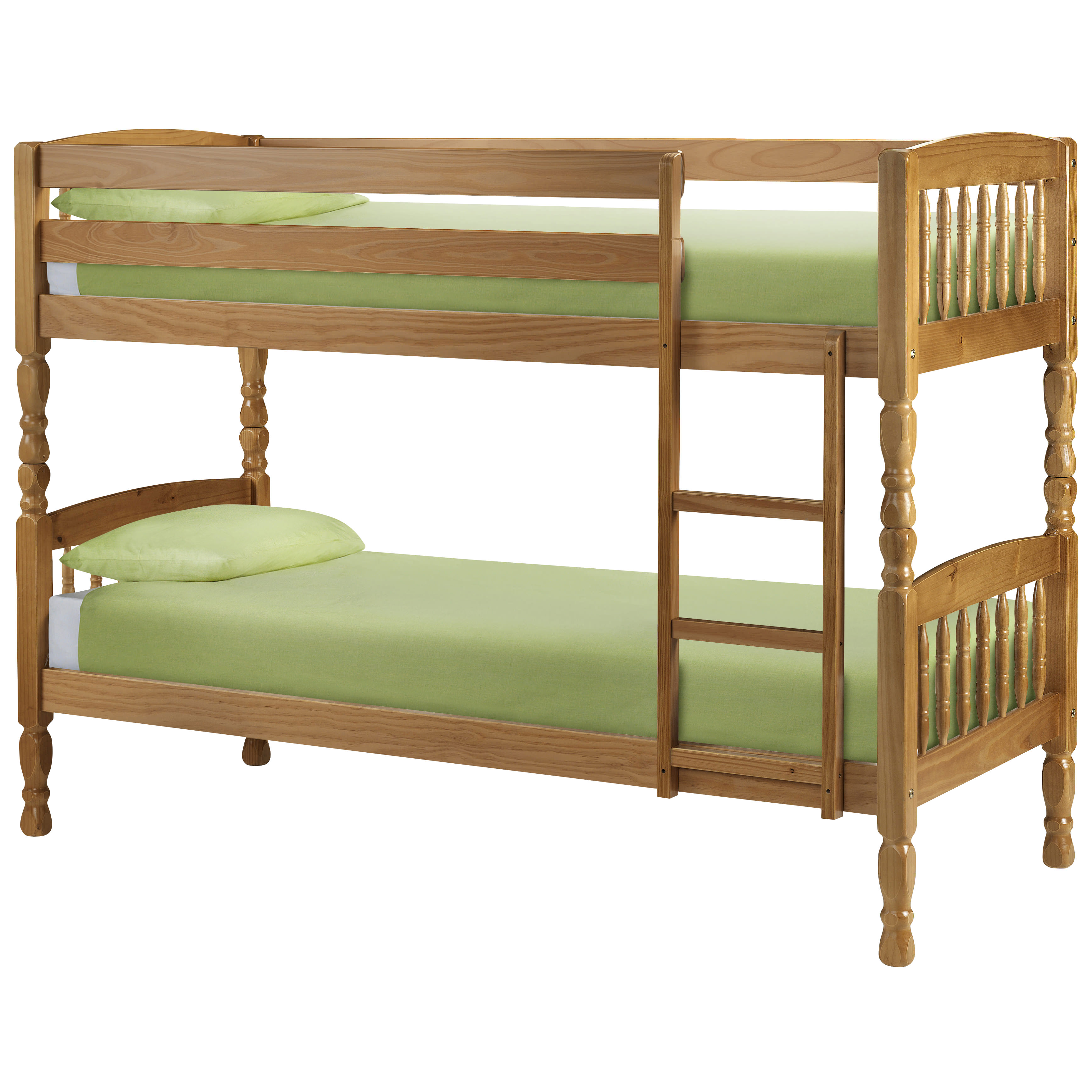 Details About Antique Pine Finish Childrens Kids Wooden Bunk Bed Frame Small Single 2ft6 3ft