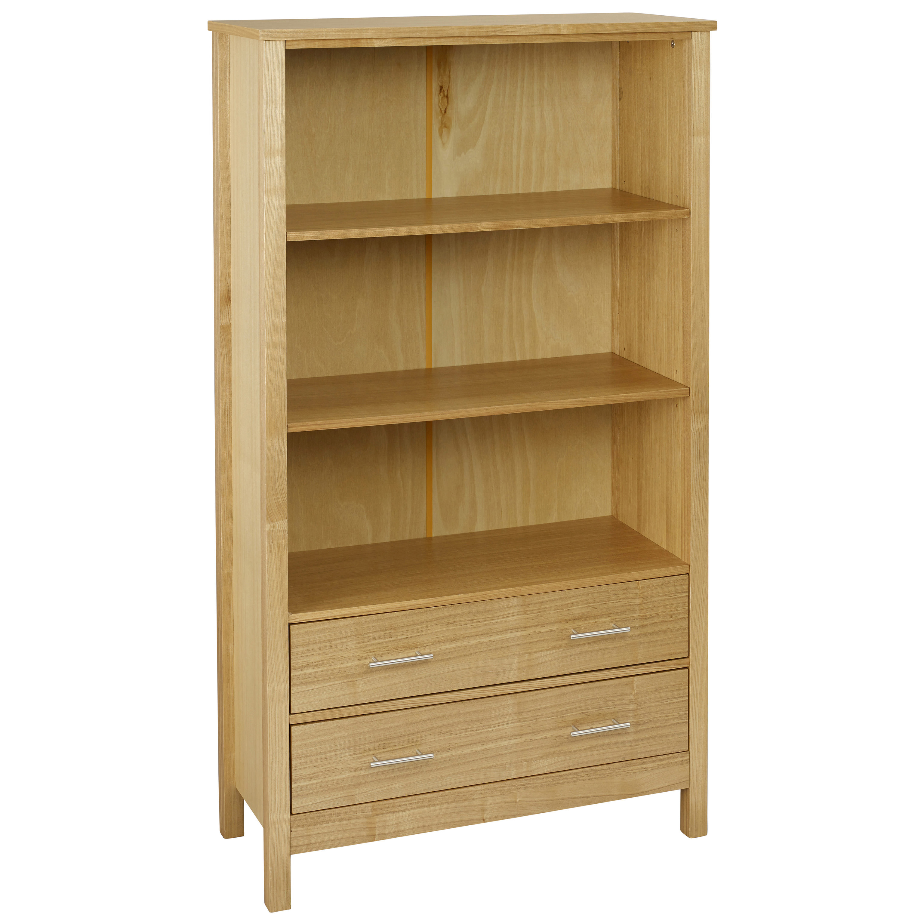 open metal sleek shelf pin clean two construction with design boasts a our bookcase