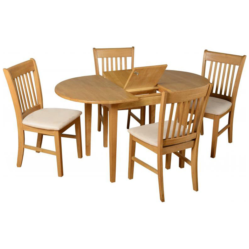 Oak Oval Extending Extendable Dining Table And Chair Set