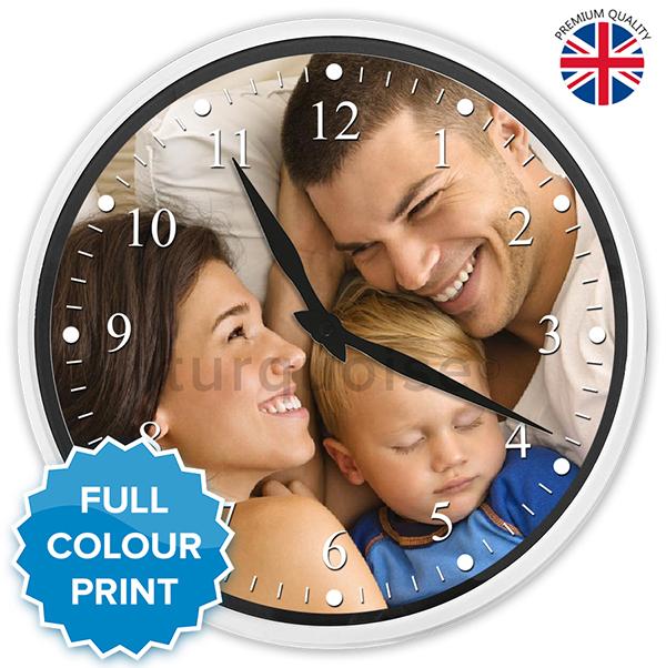 Extra Grande Encargo Personalizado Redondo Foto Reloj de pared 35.5 ...
